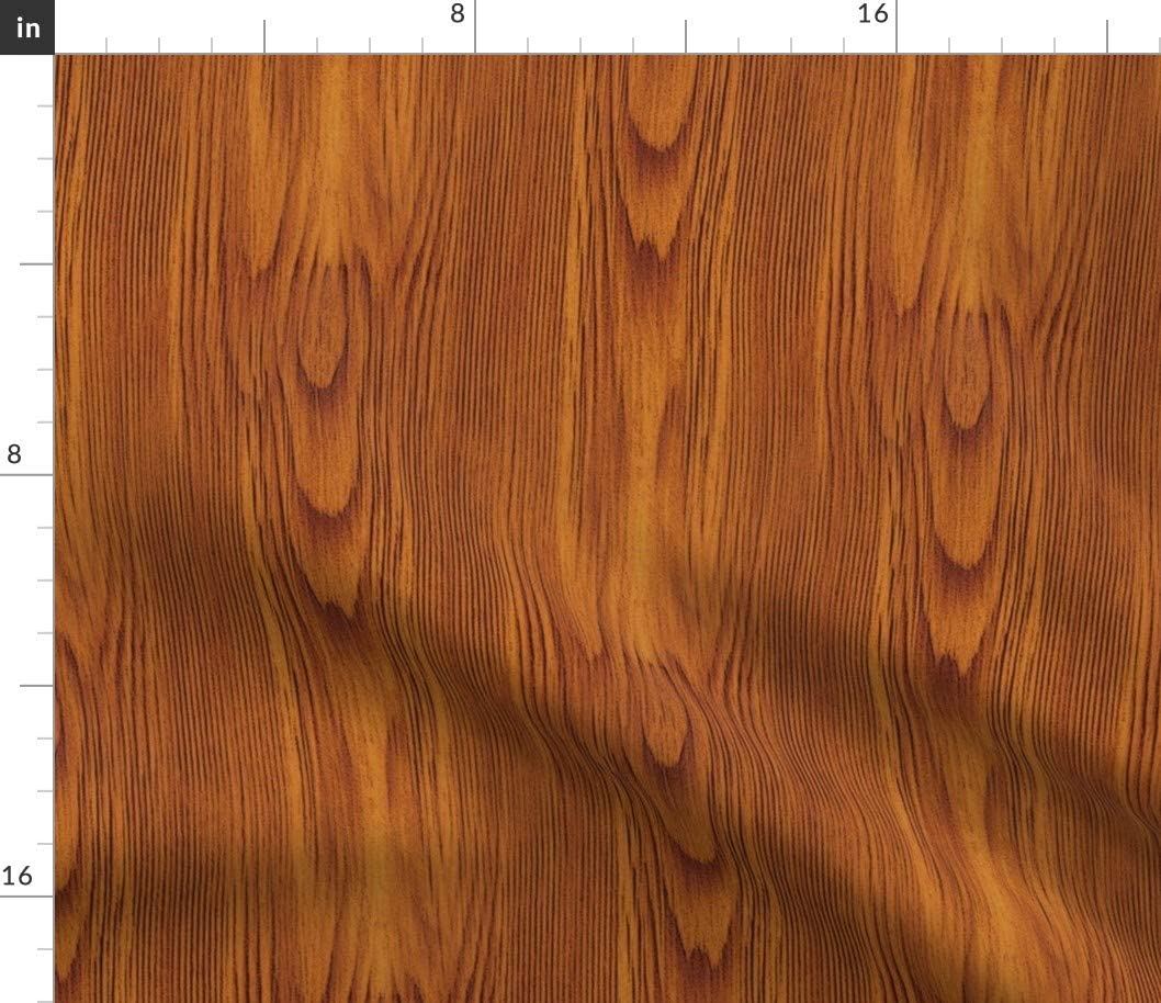 Spoonflower Fabric - Red Wood Grain Forest Nature Tree o 代引き不可 在庫処分 Printed
