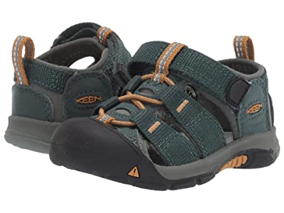 Keen Kids Newport H2 (Toddler) (Green Gables/Wood Thrush) Kids Shoes