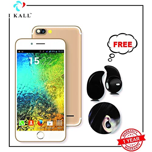 IKALL K1 5 Inch Display (1+8GB) 4G Volte Smart Phone with Freebie Bluetooth Ear-Pod (Champagne)