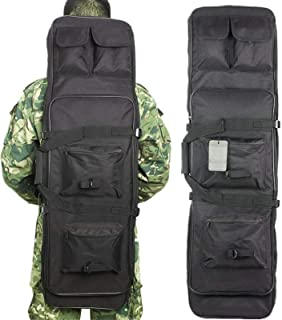 Queiting Outdoor Camping Shotgun Bag Dual Padded Rifle Case Tactical Gun Bag Backpack Shotgun Storage Oxford cloth