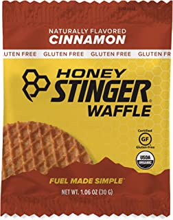 Honey Stinger Organic Gluten Free Waffle, Cinnamon, Sports Nutrition, 1.06 Ounce (16 Count)