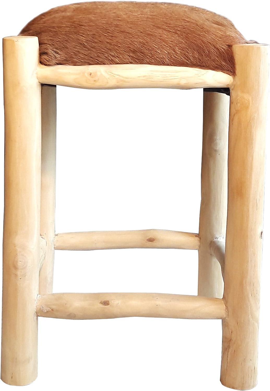 Moebel Kolonie Fellhocker SAFARI Ziegenfellhocker mit Holzfüßen Holzfüßen Holzfüßen B07B2BRPN2 | Elegante Form  0615fa