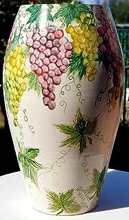 Portaombrelli Linea Uva Ceramica Realizzato e Dipinto a mano Pezzo Unico Oggetto d'arte Le Ceramiche del Castello Made in ...