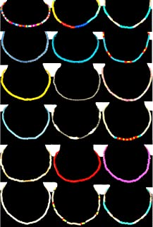 Tornito 16-18Pcs Belly Waist Necklace Chain Summer Jewelry Bikini Body Chain for Women Girls African Waist Bead Set Stretchy Elastic String Multi-Color Sexy Bracelet Anklet