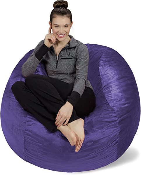 Sofa Sack Plush Ultra Soft Bean Bag Chair Memory Foam Bean Bag Chair With Microsuede Cover Stuffed Foam Filled Furniture And Accessories For Dorm Room Purple 4