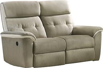 ECO-DE Sofa 3 plazas beige con masaje , reclinable ...
