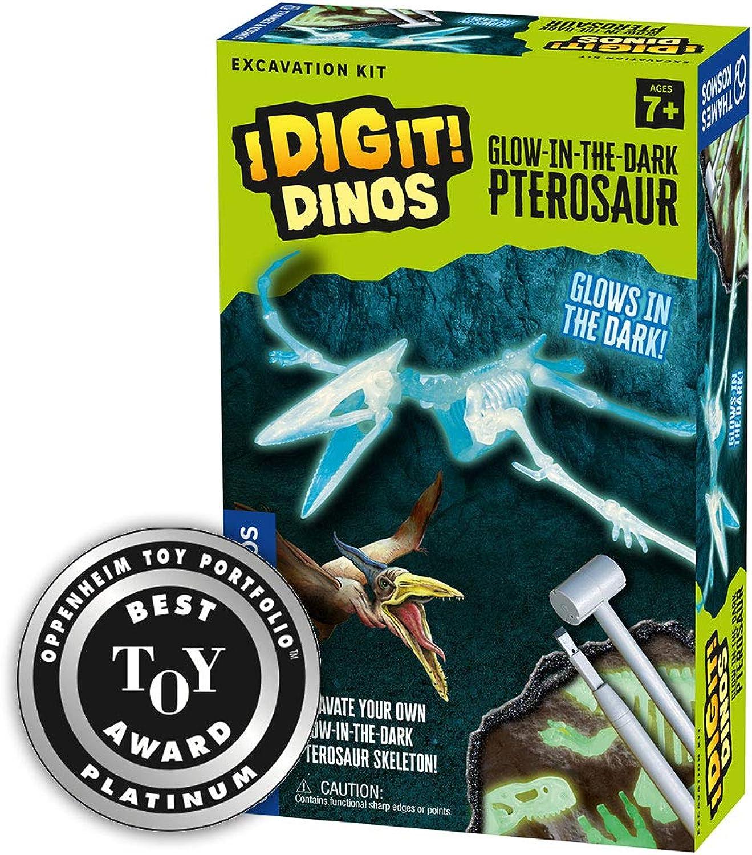 Thames & Kosmos I Dig It  Dinos 3D T. Rex Excavation Kit Science Experiment Kit GlowinTheDark Ptepinkur