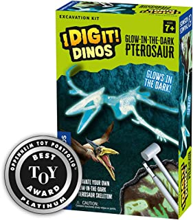 Thames & Kosmos I Dig It Dinos Glow-in-The-Dark Pterosaur | Science Kit | Glowing Pterosaur Dinosaur Skeleton Dig | Paleontology | 2018 Oppenheim Toy Portfolio Platinum Award