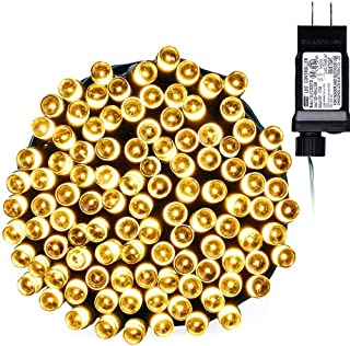 Toodour LED Christmas Lights, 72ft 200 LED String Lights with 8 Modes, Timer, Low Voltage Indoor Fairy Twinkle Lights for Christmas, Home, Garden, Party, Holiday, Xmas Tree Lights (Warm White)