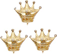 AnnoDeel 2 pcs 40 x 38 Princess Crown Balloons Foil Balloons Wedding Decoration Birthday Party Large Size Party Balloons