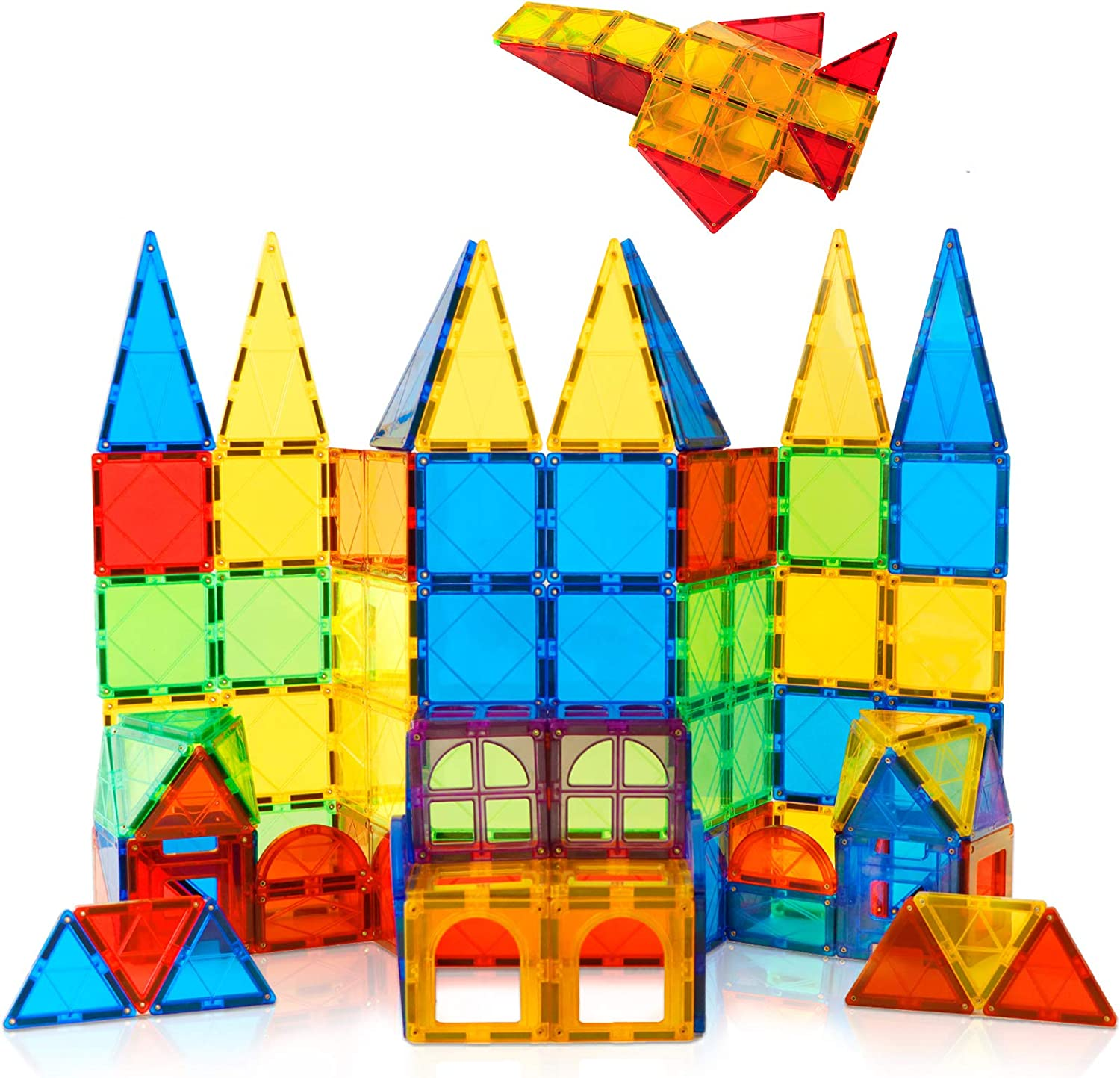 Magnet Toys NEW before selling ☆ Kids Magnetic Building 100 Max 41% OFF Pcs Blo Tiles 3D