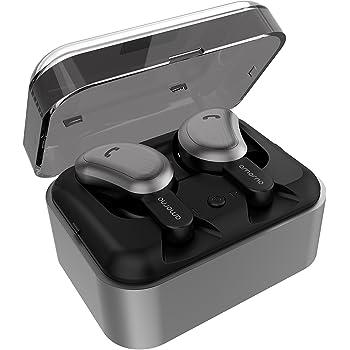 【進化版Bluetooth5.0 CVCノイズキャンセル6.0技術 Siri対応 】 Bluetooth イヤホン 完全ワイヤレス イヤホン 両耳通話対応 Amorno bluetooth イヤホン Hi-Fi ノイズキャンセリング マイク内蔵 自動ペアリング 充電式収納ケース付き iPhone & Android適用 左右分離型
