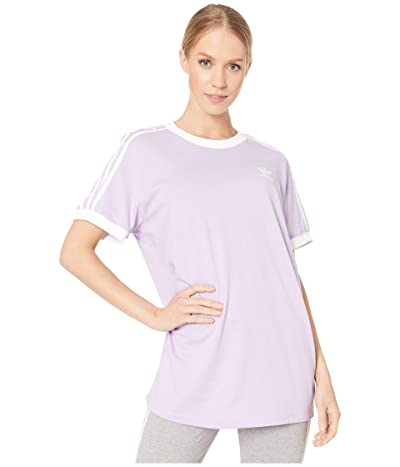 adidas Originals 3 Stripes Tee (Purple Glow) Women