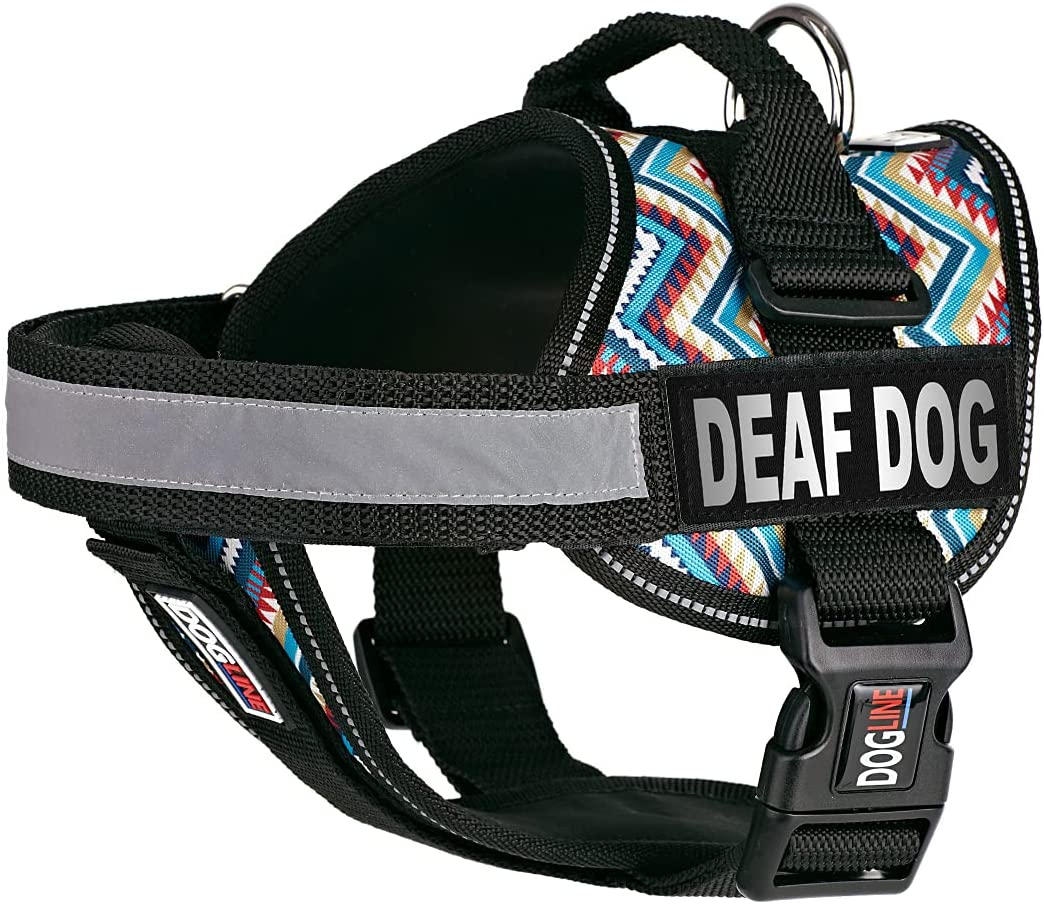 Dogline Unimax Dog Harness Vest Ranking TOP14 Reflective Financial sales sale Patches with Deaf