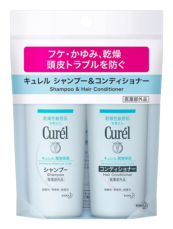 【花王】キュレル 薬用シャンプー&コンディショナー ミニセット (90ml) ×5個セット