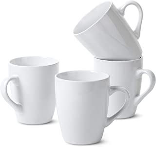 BTaT - لیوان قهوه سفید ، ست 4 ، 12 اونس ، لیوان قهوه ، لیوان قهوه کریسمس ، لیوان شکلات داغ ، لیوان سرامیک ، لیوان بزرگ قهوه ، مجموعه لیوان ، لیوان کاکائو داغ ، لیوان ست ، لیوان قهوه سرامیک
