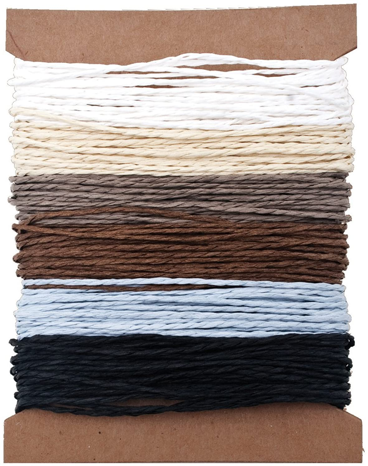 Solids Paper String by Tim Holtz Idea-ology, 5 Yards of Each Color, 6 Colors, TH93044