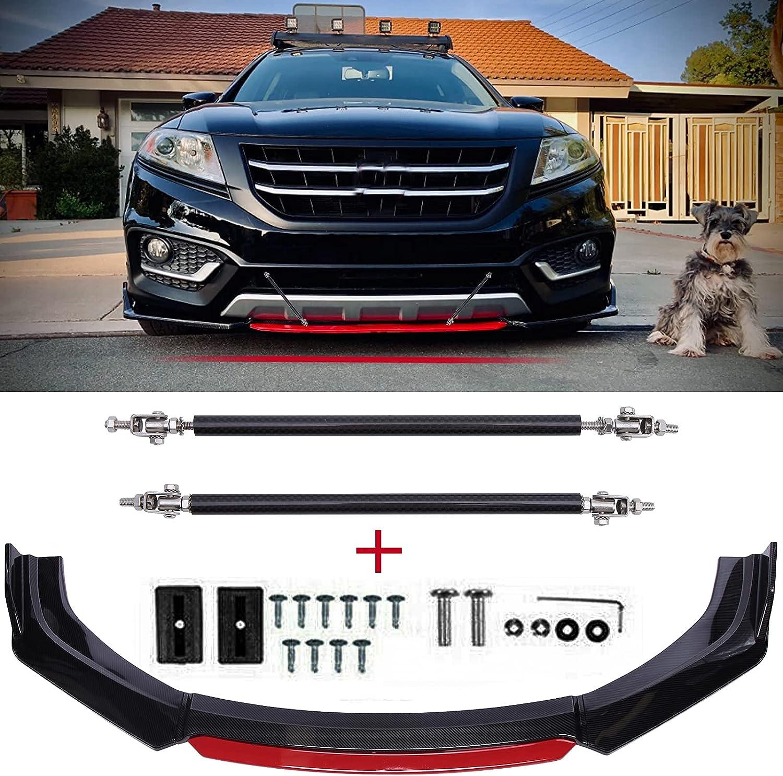 Carbon Fiber Front Bumper San Antonio Mall Lip+Strut I Rods Compatible Credence Lexus With