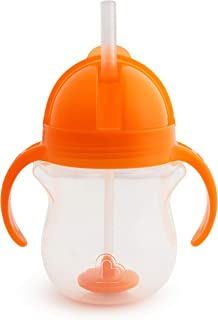 Munchkin Click Lock Weighted Flexi Straw Trainer Cup, Orange, 7oz