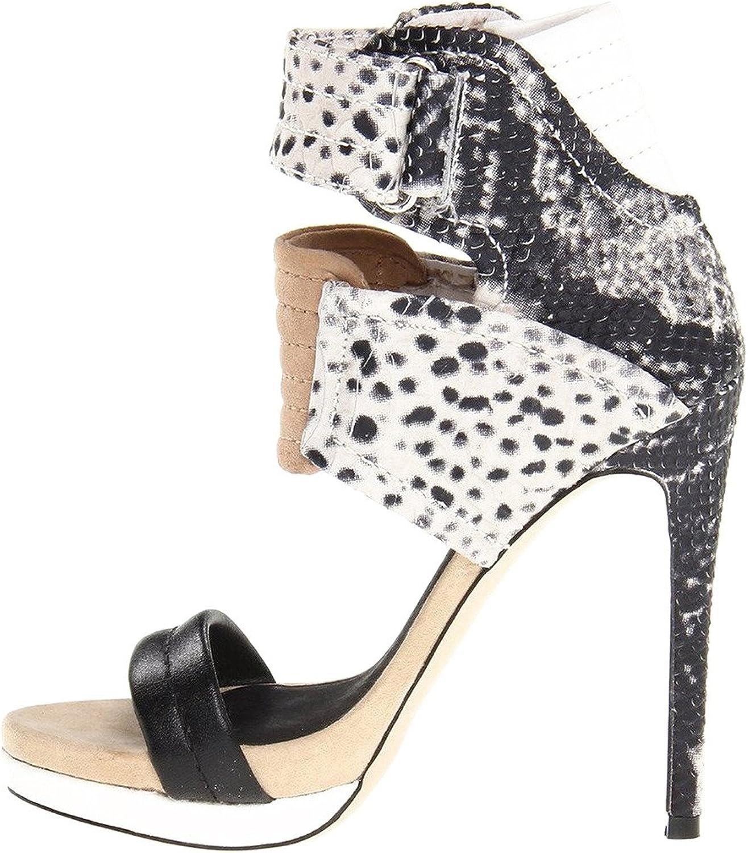Calaier Womens Cadifferent Open Toe 12CM Stiletto Elastic Pumps shoes