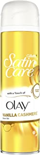 Gillette Satin Care and Olay Vanilla Cashmere Women's Shaving Gel, 200 ml