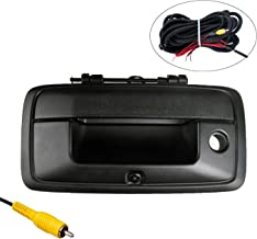 OMOTOR Fit for Chevrolet Silverado/GMC Sierra 2014-Current Black Tailgate Backup Reverse Handle with Camera