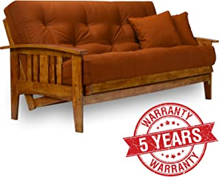 Amazon Com Brown Futons Living Room Furniture Home Kitchen