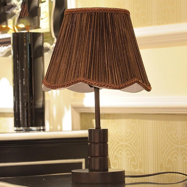 Moderne minimalistische Lampe Schlafzimmer Bedside Lampe Retro Holz kreative warme Wohnzimmer Tischlampe (Farbe   braun) B06W5HX42D | Mode-Muster