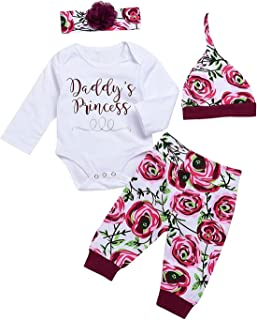 Cecobora Happy First Mothers Day Baby Girls Outfit Set 3PCS Romper Love Mother Printed Pants with Hat