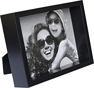 BD ART 4x6 inch Black Box Picture Frame - Hanging and Standing Display