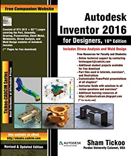 Autodesk Inventor 2016 for Designers, 16th Edition