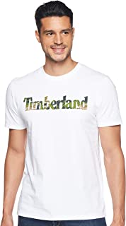 Timberland mens Kennebec River Seasonal Pattern Linear Logo Tee T-Shirt