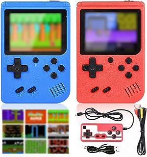 GOLDGE Consoles De Jeux Portable,Console de Jeu Retro FC pour Deux Joueurs,Chargement USB Consoles avec 400 Classique Jeu...