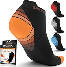 Compression Running Socks for Men & Women - Best Low Cut No Show Athletic Socks for Stamina Circulation & Recovery - Ultra...