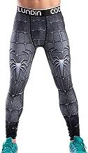 Red Plume Men's Compression Elastic Tight Leggings Sport Spider Printing Pants