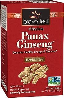 Bravo Tea, Absolute Panax Ginseng, Single Box, 20 Bags