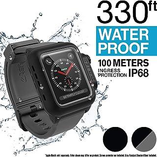 Catalyst Estuche Impermeable para Reloj Apple Serie 42mm 2 & 3 con Pulsera de Silicona Suave de Primera Calidad, Resistente a los Golpes y a los Impactos[Estuche Protector Robusto iWatch], Gris