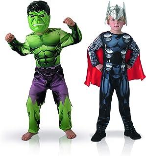 Rubies-bi Pack Classic Asamblea Hulk + Thor, Boys, 155039&