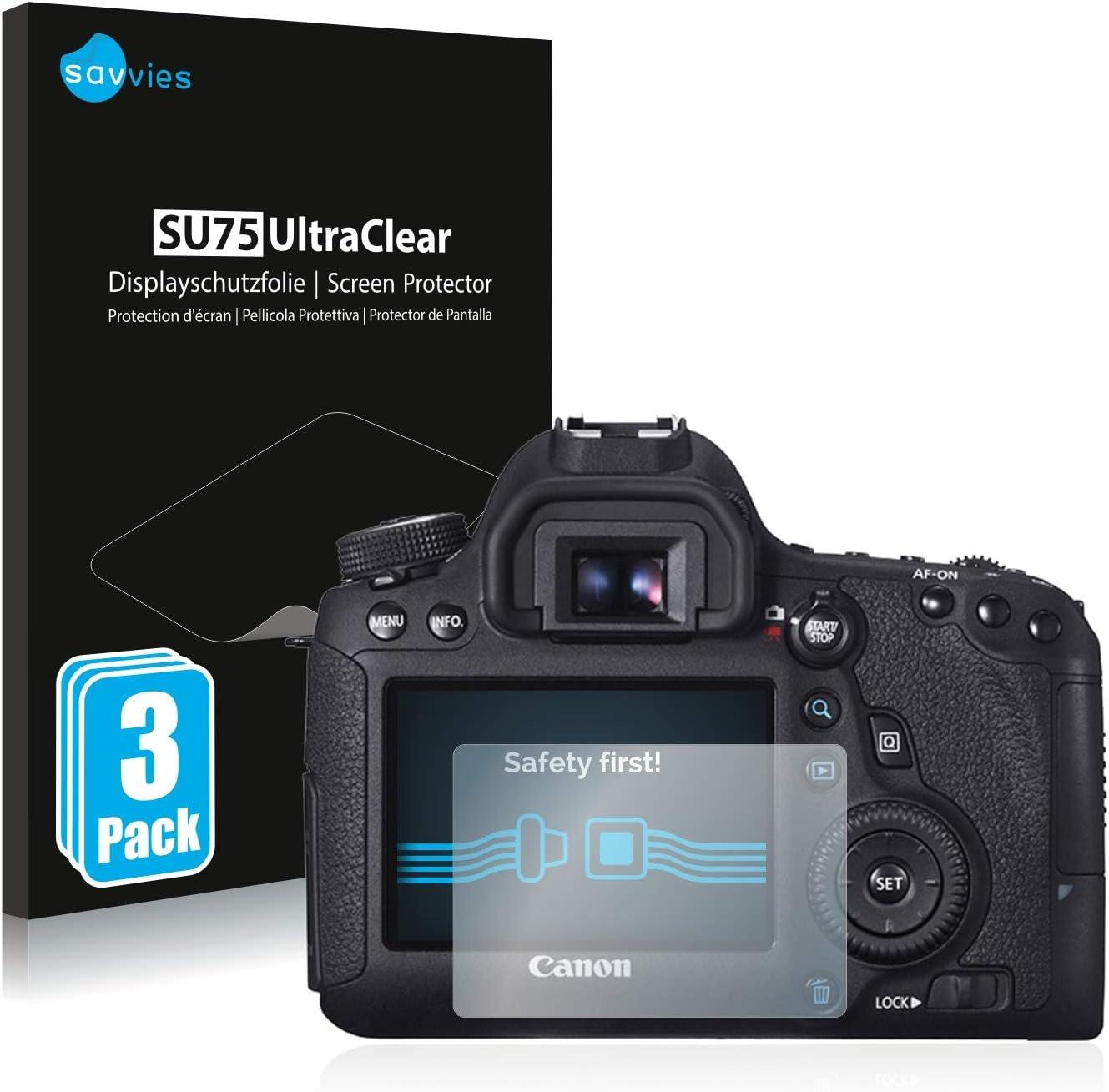 Savvies 6x Schutzfolie Kompatibel Mit Canon Eos 6d Elektronik