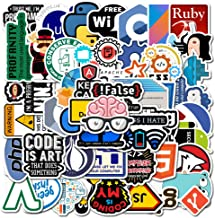 Laptop Stickers Pack for Developer [50PCS] Programming Stickers of Front-end dev,Back-end..