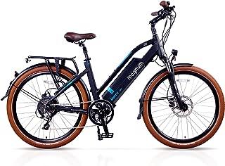 Magnum Metro Low Step Premium Electric Hybrid Bike - 500W Motor, Large Capacity 48V13A Lithium Battery – Handlebar Display – eBike for Adults (Black)