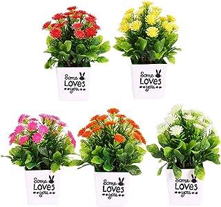 strimusimak Flor Artificial plástica del crisantemo para el Bonsai casero del Banquete de Boda Blanco