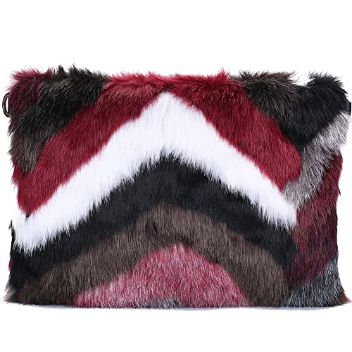 4b290e8392d0 Womens Faux Fur Evening Clutch