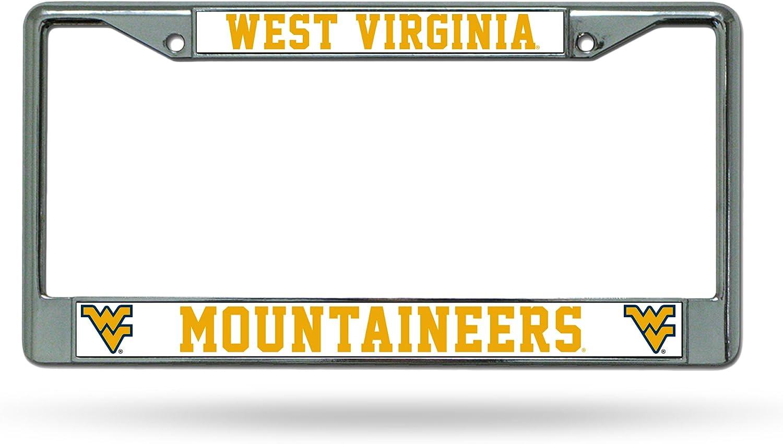 NCAA West Virginia Mountaineers Rapid rise Standard Plate Chrome 5 ☆ popular License Fr