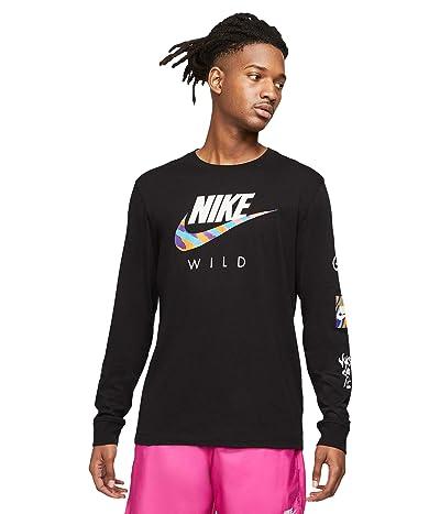 Nike NSW Long Sleeve Wild Futura Tee (Black) Men