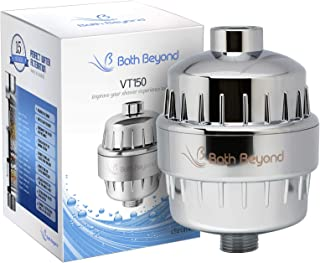BathBeyond Shower Filter Vitamin C 15 Stage High Output Water Filter With cartridge for Hard Water - Shower Head Filter Re...