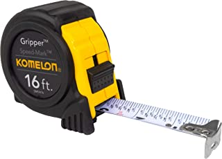 Komelon SM5416 Speed Mark Gripper Acrylic Coated Steel Blade Tape Measure 16-feet by..