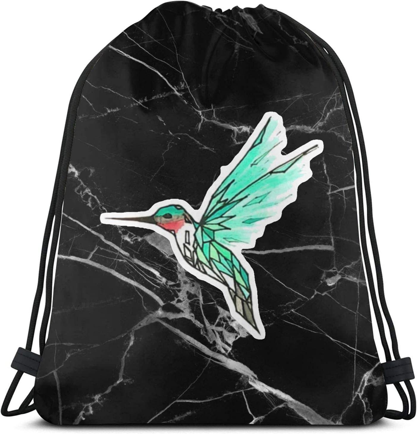 hummingbird Drawstring Weekly update Backpack String Bag Financial sales sale Beach for Swim S Gym