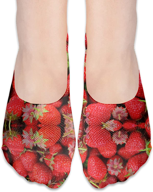 No Show Socks Women Men For Berries Fruit Summer Flats Cotton Ultra Low Cut Liner Socks Non Slip