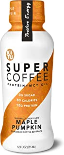 Kitu by Sunniva Super Coffee Sugar-Free Formula, 10g Protein, Keto Approved, Lactose Free, Soy Free, Gluten Free (Pack of 6) (Sugar Free Maple Pumpkin)